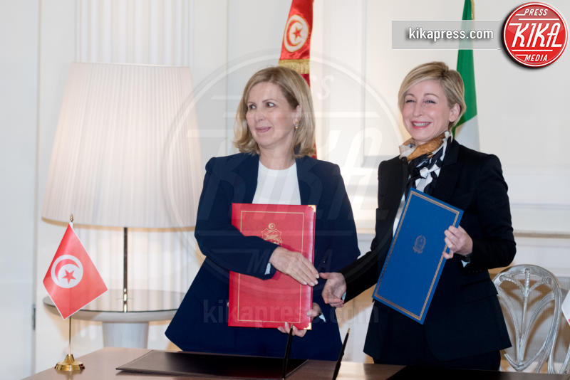 Dorina Bianchi, Salma Elloumi Rekik - Roma - 09-02-2017 - Angelino Alfano, firmata dichiarazione congiunta Italia-Tunisia