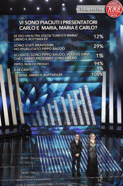 Maria De Filippi, Carlo Conti - Sanremo - 10-02-2017 - Sanremo 2017, tutte le emozioni della quarta serata