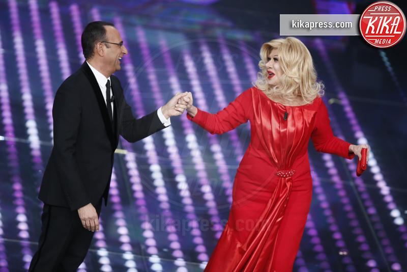 Virginia Raffaele, Carlo Conti - Sanremo - 10-02-2017 - Sanremo 2017, tutte le emozioni della quarta serata
