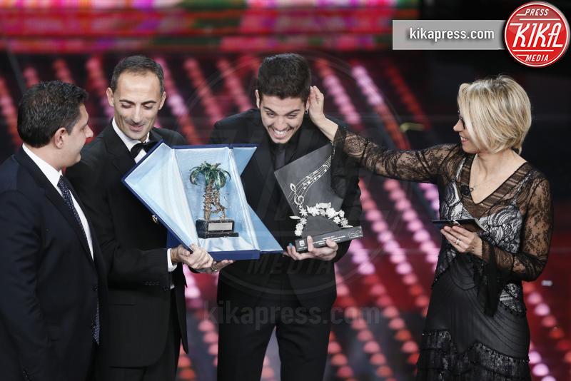 Lele, Giovanni Toti, Maria De Filippi - Sanremo - 10-02-2017 - Sanremo 2017, tutte le emozioni della quarta serata
