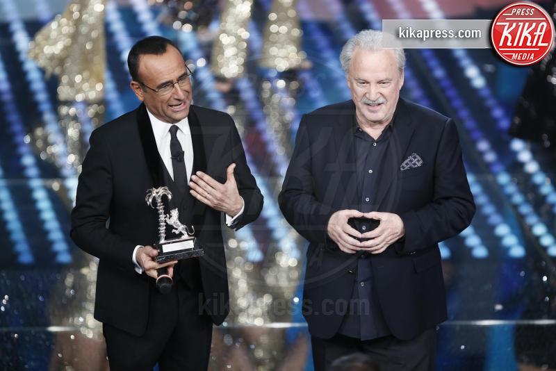 Giorgio Moroder, Carlo Conti - Sanremo - 11-02-2017 - Sanremo 2017, tutte le emozioni della quarta serata