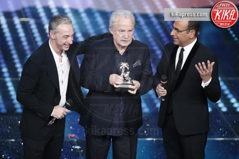 Giorgio Moroder, Carlo Conti, Linus - Sanremo - 11-02-2017 - Sanremo 2017, tutte le emozioni della quarta serata