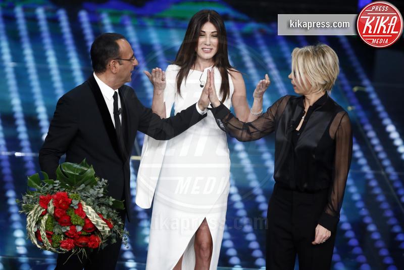 Virginia Raffaele, Maria De Filippi, Carlo Conti - Sanremo - 11-02-2017 - Sanremo 2017, tutte le emozioni della quarta serata