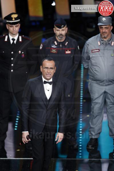 Maria Gaetana Albina di Lena, Giuseppe Briganti, Carlo Conti - Sanremo - 11-02-2017 - Sanremo 2017: le foto della serata finale