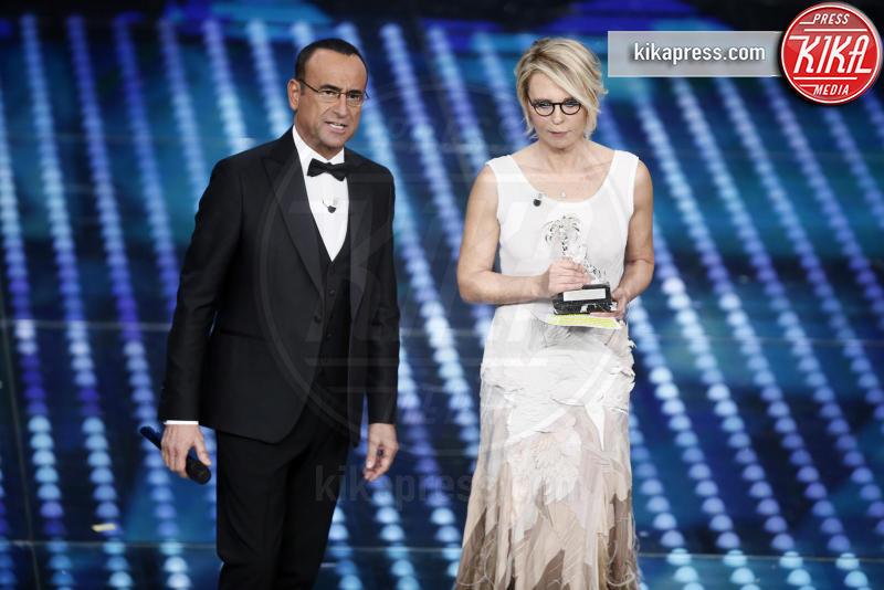 Maria De Filippi, Carlo Conti - Sanremo - 11-02-2017 - Sanremo 2017: le foto della serata finale