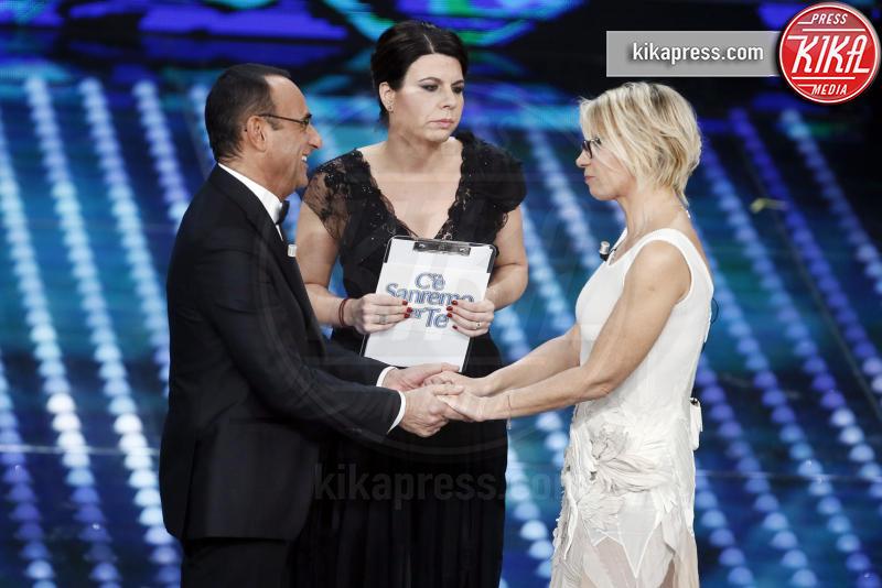 Alvaro Soler, Geppi Cucciari, Maria De Filippi, Carlo Conti - Sanremo - 12-02-2017 - Sanremo 2017: le foto della serata finale