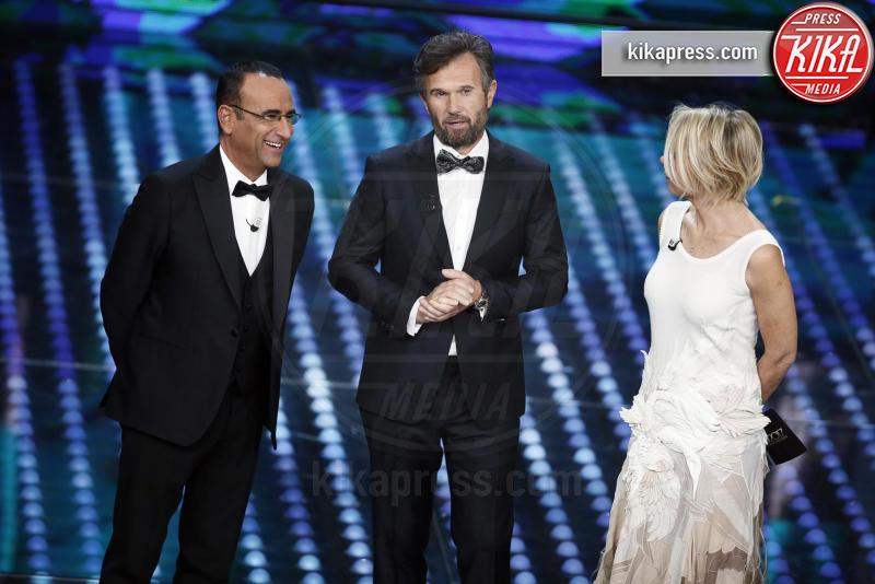 Carlo Cracco, Maria De Filippi, Carlo Conti - Sanremo - 12-02-2017 - Sanremo 2017: le foto della serata finale