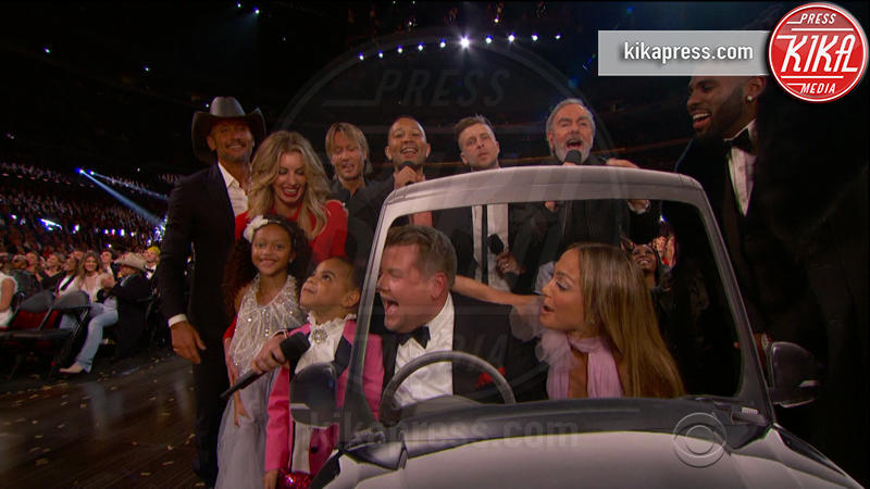 Blue Ivy Carter, Ryan Tedder, Jason Derulo, John Legend, Neil Diamond, Tim McGraw, Keith Urban, Jennifer Lopez, Faith Hill - 13-02-2017 - Grammy Awards: le immagini della cerimonia