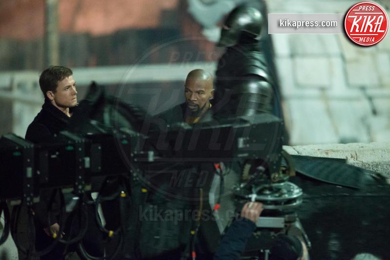 Taron Egerton, Jamie Foxx - Dubrovnik - 23-02-2017 - Jamie Foxx è Little John in Robin Hood Origins