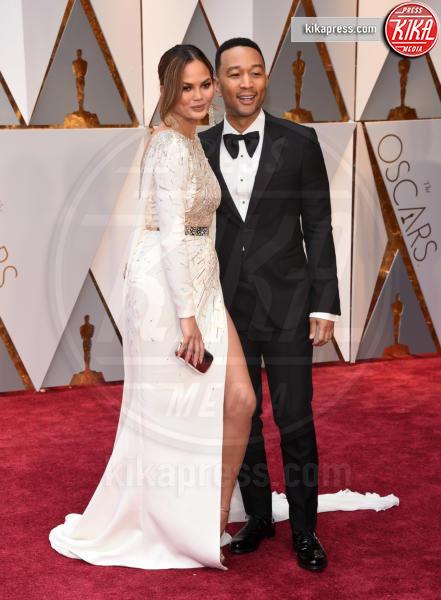 Chrissy Teigen, John Legend - Hollywood - 26-02-2017 - Oscar 2017: le coppie sul red carpet