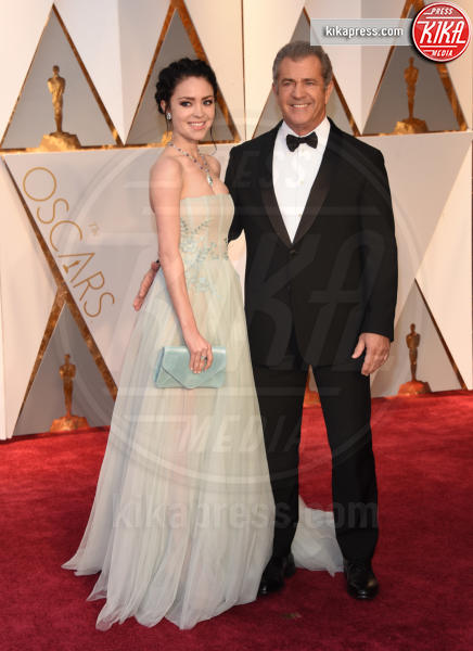 Rosalind Ross, Mel Gibson - Hollywood - 26-02-2017 - Oscar 2017: le coppie sul red carpet