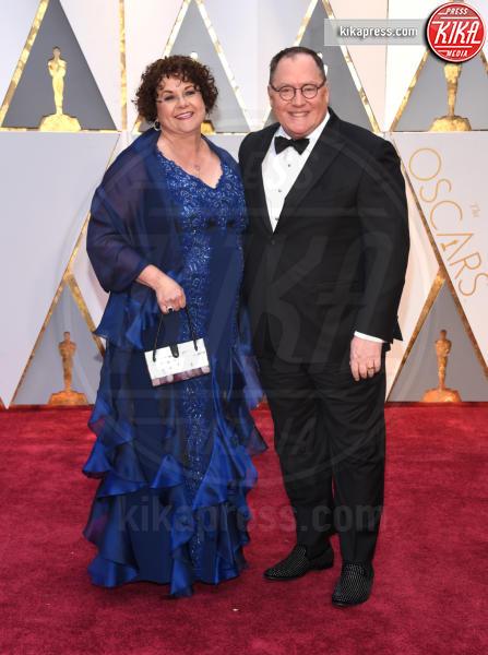 Nancy Lasseter, John Lasseter - Hollywood - 26-02-2017 - Oscar 2017: le coppie sul red carpet