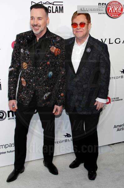 David Furnish, Elton John - West Hollywood - 26-02-2017 - Oscar 2017: sexy spacchi e trasparenze al party di Elton John