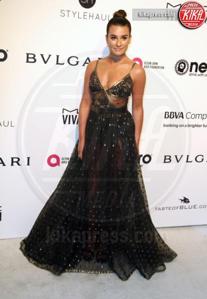 Lea Michele - Los Angeles - 26-02-2017 - Oscar 2017: sexy spacchi e trasparenze al party di Elton John