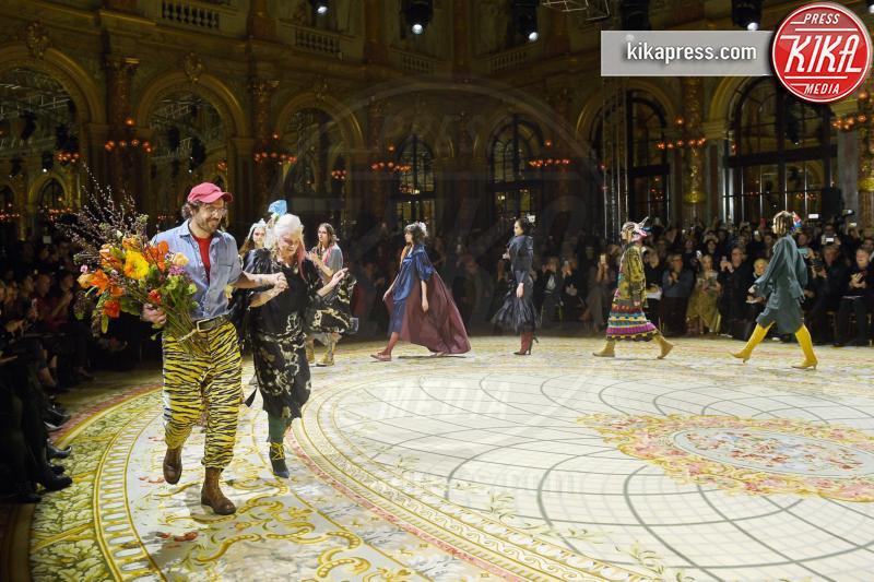 Andreas Kronthaler, Vivienne Westwood - Parigi - 05-03-2017 - Paris Fashion Week: Vivienne Westwood sfila per il suo Andreas