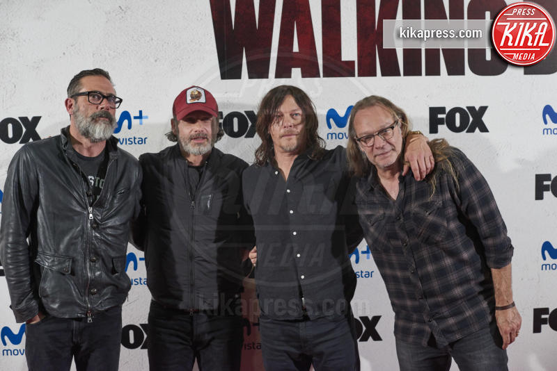 Greg Nicoter, Andrew Lincoln, Jeffrey Dean Morgan, Norman Reedus - Madrid - 09-03-2017 - The Walking Dead: il protagonista lascia la serie tv