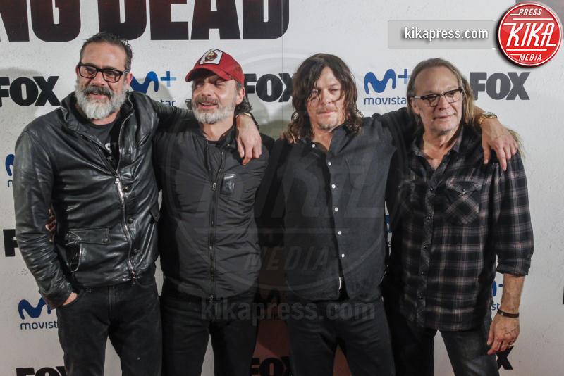 Andrew Lincoln, Jeffrey Dean Morgan, Greg Nicotero, Norman Reedus - Madrid - 09-03-2017 - The Walking Dead: il protagonista lascia la serie tv