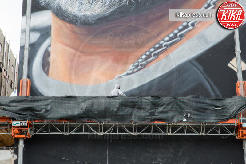 Jorit, Diego Armando Maradona - 10-03-2017 - Nel Bronx di Napoli, il murales più grande di Armando Maradona