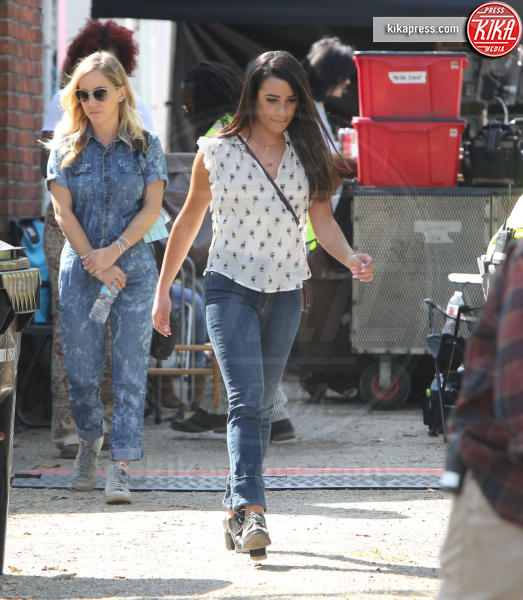 Lea Michele - Los Angeles - 16-03-2017 - Lea Michele: prime foto sul set di Untitled City Mayor Project