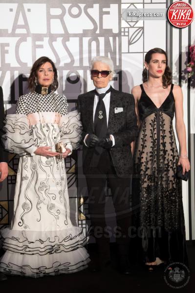 ballo della rosa, Principessa Carolina di Monaco, Charlotte Casiraghi, Karl Lagerfeld - Monaco - 18-03-2017 - Beatrice e Charlotte, le Casiraghi regine del Ballo della Rosa