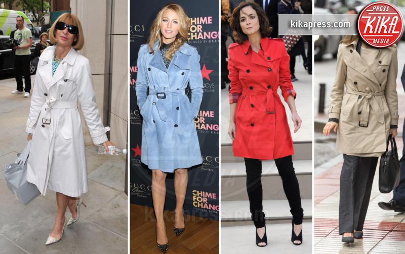 Letizia Ortiz, Blake Lively, Anna Wintour, Alice Braga - 23-03-2017 - La primavera è arrivata: è tempo di trench!