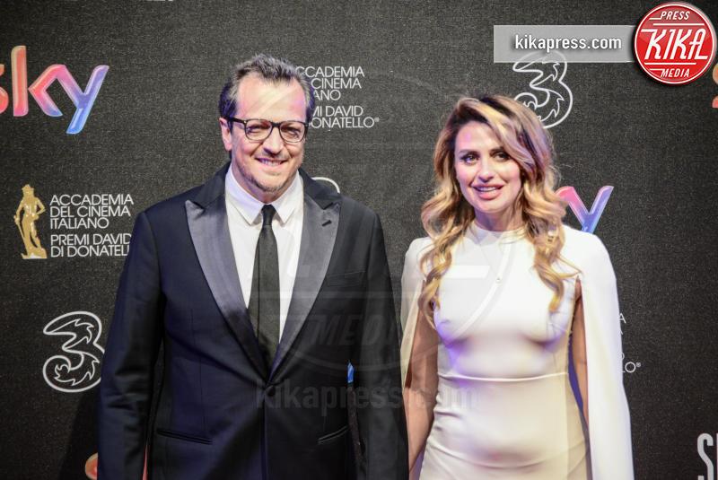 Angelica Russo, Gabriele Muccino - Roma - 27-03-2017 - David di Donatello 2017: l'eleganza sul red carpet