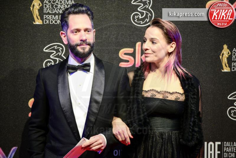 Arianna Mattioli, Lorenzo Lavia - Roma - 27-03-2017 - David di Donatello 2017: l'eleganza sul red carpet
