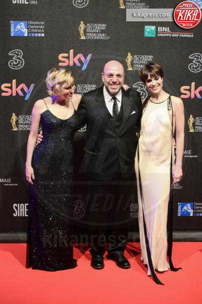 Paolo Virzì, Valeria Bruni Tedeschi, Micaela Ramazzotti - Roma - 27-03-2017 - David di Donatello 2017: l'eleganza sul red carpet