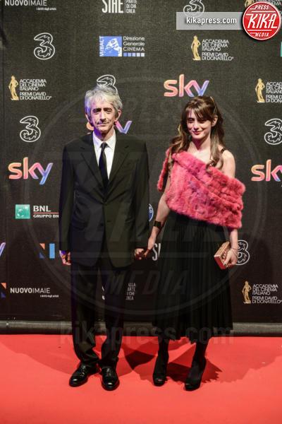 Carla Cavalluzzi, Sergio Rubini - Roma - 27-03-2017 - David di Donatello 2017: l'eleganza sul red carpet