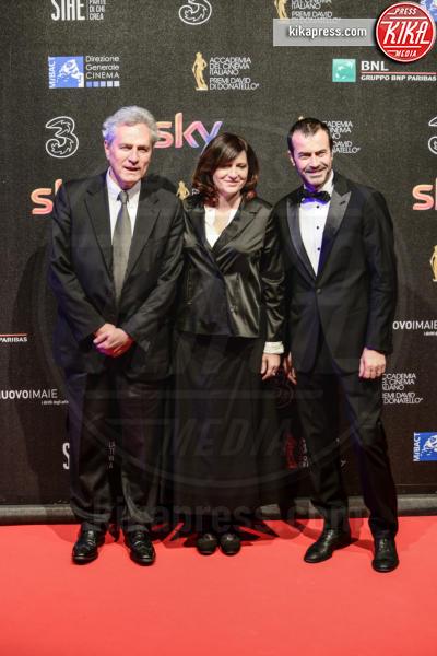 Andrea Occhipinti, Barbara Palombelli, Francesco Rutelli - Roma - 27-03-2017 - David di Donatello 2017: l'eleganza sul red carpet