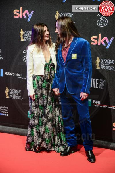 Francesca Risi, Manuel Agnelli - Roma - 27-03-2017 - David di Donatello 2017: l'eleganza sul red carpet
