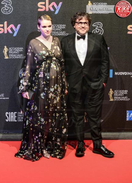 Caterina Shulha, Marco Belardi - Roma - 27-03-2017 - David di Donatello 2017: l'eleganza sul red carpet