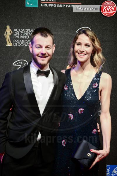 Ludovica Sauer, Alessandro Cattelan - Roma - 27-03-2017 - David di Donatello 2017: l'eleganza sul red carpet