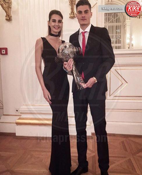 Patrik Schick, Kristina Schickova - Milano - 29-03-2017 - Non solo wags: le sexy sorelle, d'Italia, nel pallone!