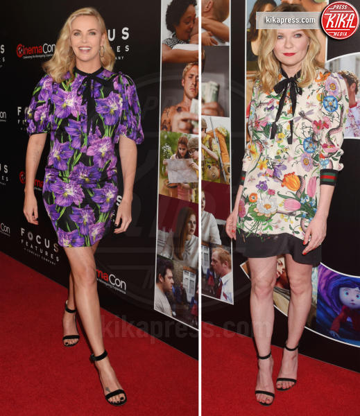 Kirsten Dunst, Charlize Theron - 30-03-2017 - Chi lo indossa meglio? Charlize Theron e Kirsten Dunst in Gucci