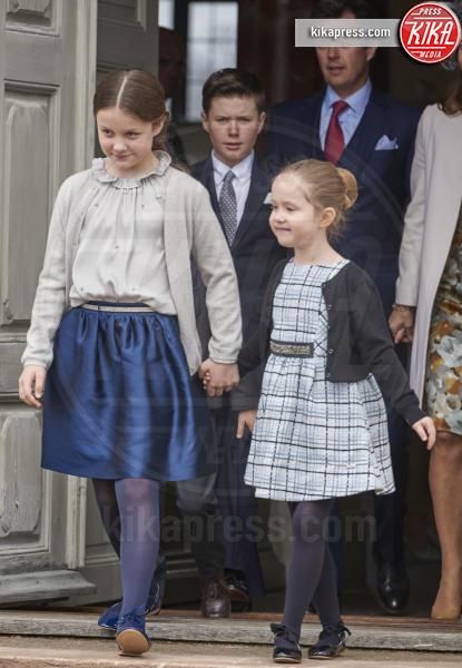 Prince Henrik, Principessa Isabella, Principessa Josephine - Copenhagen - 01-04-2017 - Il principe Felix di Danimarca riceve la cresima
