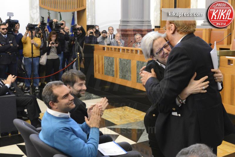Elena De Curtis, Luigi De Magistris, Renzo Arbore - Napoli - 03-04-2017 - Totò, a 50 anni dalla sua morte, si laurea alla Federico II