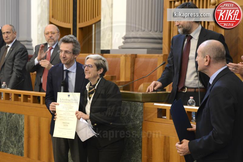 Elena De Curtis, Gaetano Manfredi - Napoli - 03-04-2017 - Totò, a 50 anni dalla sua morte, si laurea alla Federico II
