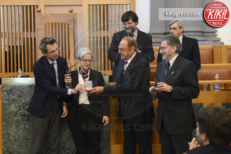 Elena De Curtis, Gaetano Manfredi, Renzo Arbore - Napoli - 03-04-2017 - Totò, a 50 anni dalla sua morte, si laurea alla Federico II