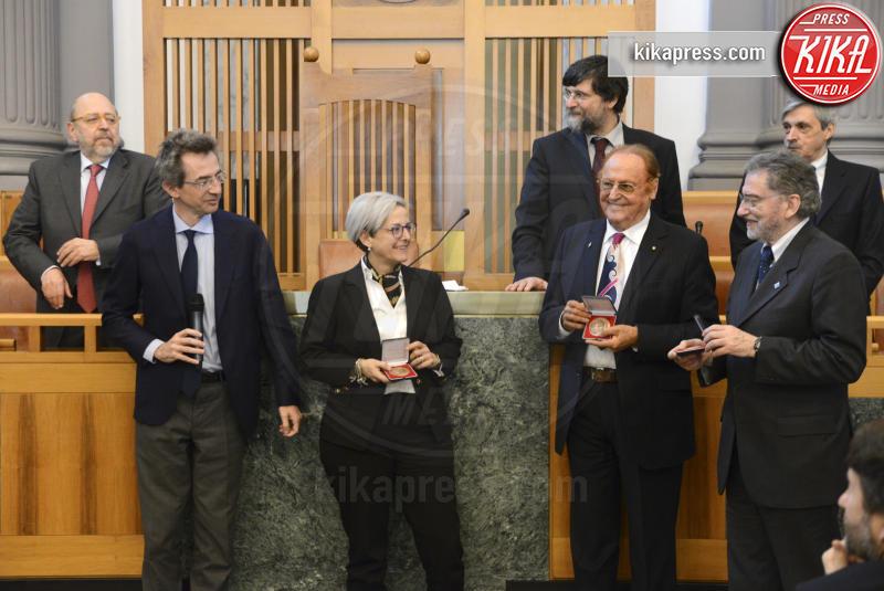 Elena De Curtis, Gaetano Manfredi, Dario Franceschini, Renzo Arbore - Napoli - 03-04-2017 - Totò, a 50 anni dalla sua morte, si laurea alla Federico II
