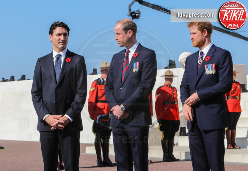 Justin Trudeau, Principe William, Principe Harry - Vimy - 09-04-2017 - La triste rivelazione di Harry sul funerale della madre