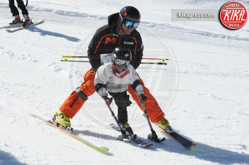 Kristian Ghedina - Cortina - 09-04-2017 - Bebe Vio: sciatrice provetta sulle nevi di Cortina