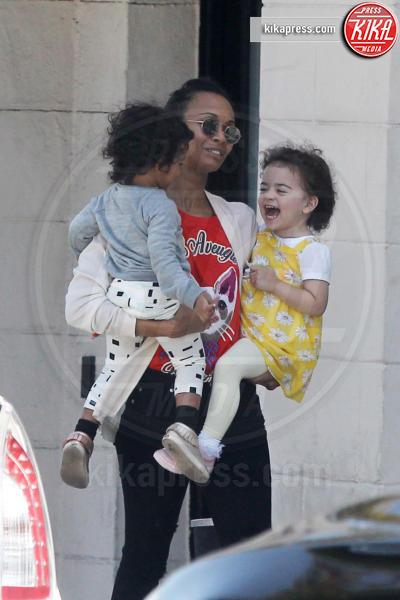 Zoe Saldana - Los Angeles - 13-04-2017 - Zoe Saldana, mamma quanto fai ridere!