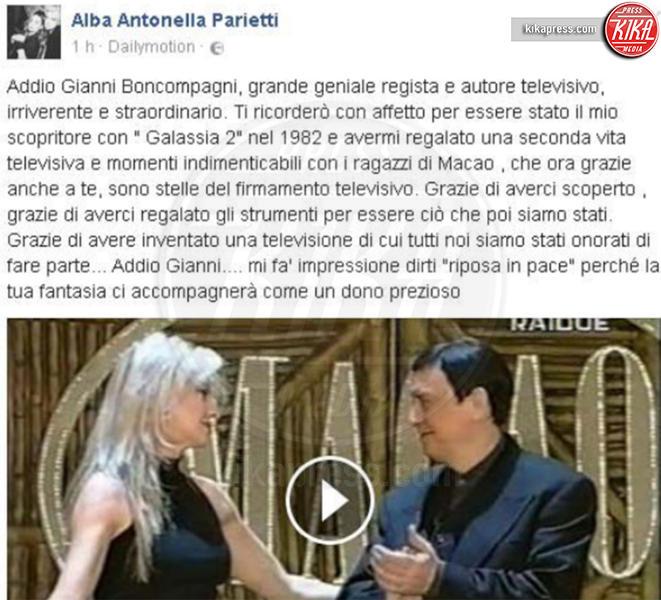 Alba Parietti - Milano - Addio Gianni Boncompagni, il ricordo di Ambra e degli altri vip