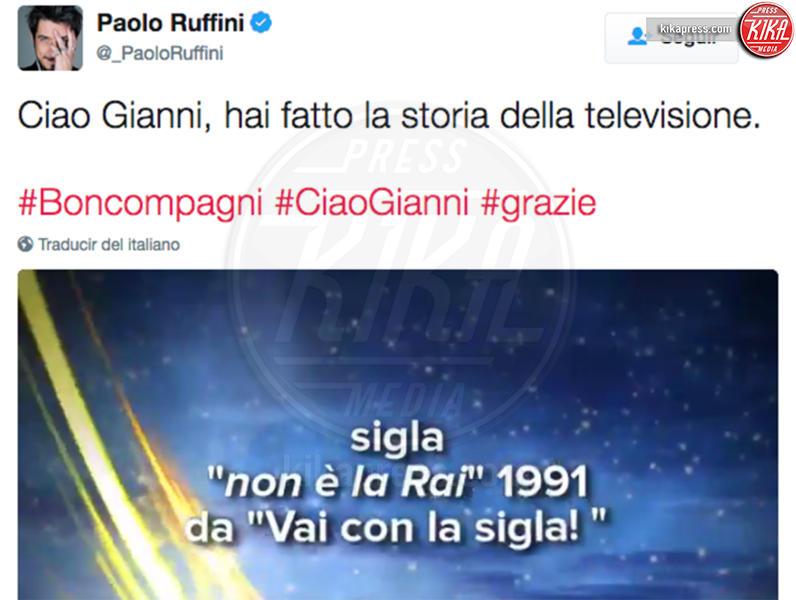 Paolo Ruffini - Milano - Addio Gianni Boncompagni, il ricordo di Ambra e degli altri vip