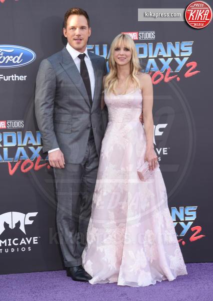 Anna Faris, Chris Pratt - Hollywood - 19-04-2017 - Guardiani della Galassia 2: la crew Stallone si prende la scena