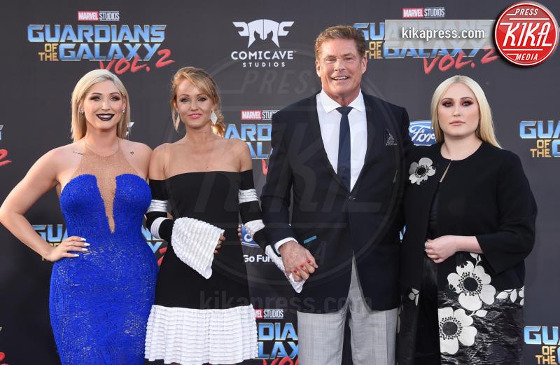 Hayley Hasselhoff, Hayley Roberts, David Hasselhoff - Hollywood - 19-04-2017 - Guardiani della Galassia 2: la crew Stallone si prende la scena