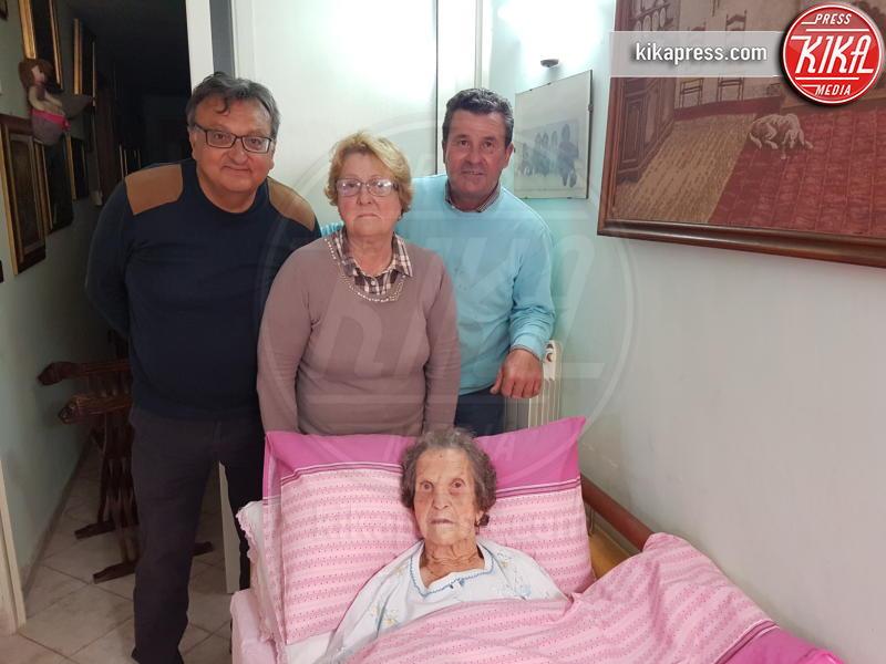Anna Panariello, Umberto Federico, Ugo Panariello, Liberata Pregevole - POMPEI - 04-05-2017 - Liberata, 103 anni, miracolata nel Santuario di Pompei