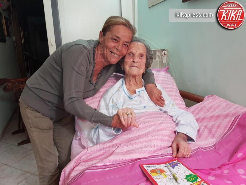 Lucia Esposito, Liberata Pregevole - POMPEI - 04-05-2017 - Liberata, 103 anni, miracolata nel Santuario di Pompei