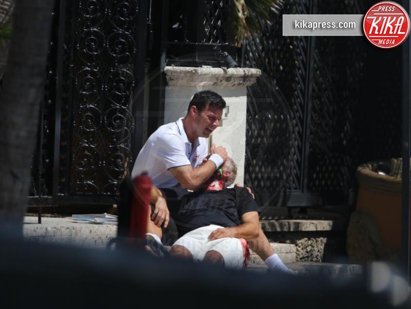 Edgar Ramirez, Ricky Martin - Miami Beach - 10-05-2017 - Penelope Cruz vestita a lutto nei panni di Donatella Versace